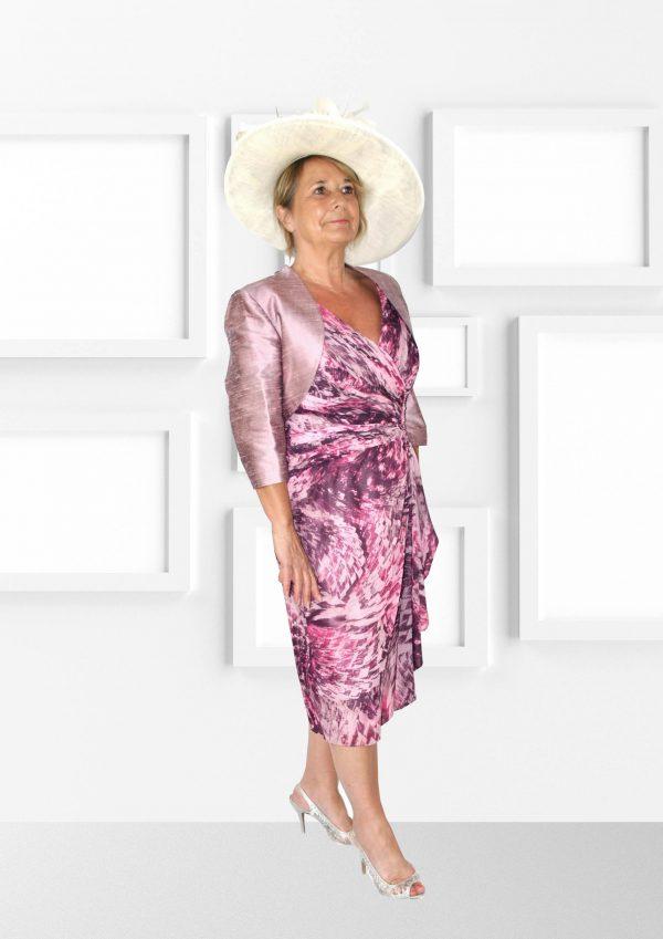 Condici Elegant Flowing Dusky Rose Dress