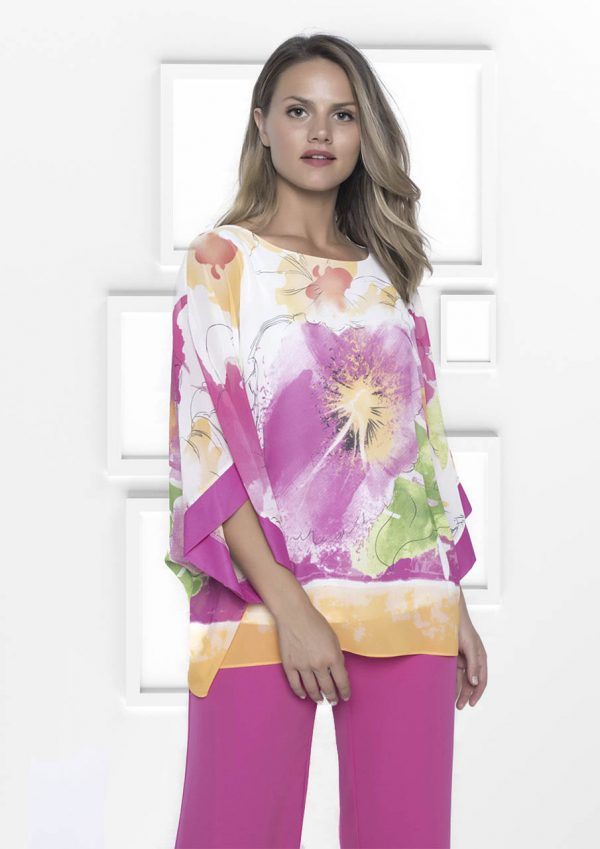 Frank Lyman colourful Kimono Sleeve Blouse